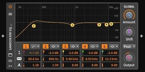 Bitwig Studio Samson SR850 EQ Profile